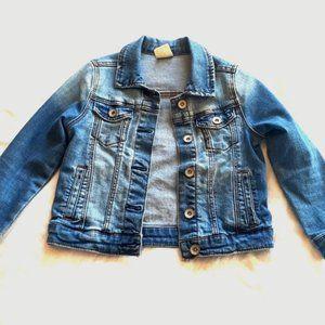 Zara Girls Size 6 Blue Jean Jacket - Core Denim
